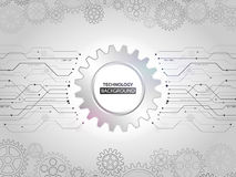 Abstract mechanical background with gear and circuit elements. H. I-tech digital communication concept. Modern vector illustration eps 10 royalty free illustration