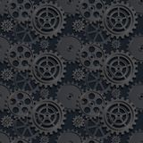 Black gears seamless 03. Abstract mechanical background, seamless pattern, illustration clip-art royalty free illustration