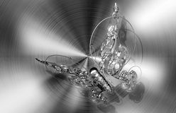 Abstract mechanical butterfly Stock Images