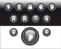 Abstract media buttons Stock Images