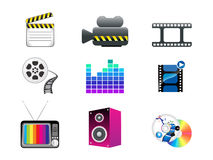 Abstract media icon set Royalty Free Stock Image