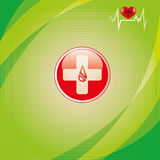 Abstract medical background. Abstract green grid medical background Stock Photography