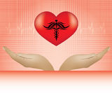 Abstract medical background. Abstract red heart medical background Royalty Free Stock Photography