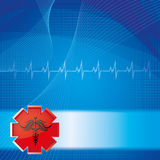 Abstract medical background. Abstract red blue medical background Royalty Free Stock Photo
