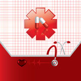 Abstract medical background Stock Image