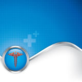 Abstract medical background with caduceus medical symbol. Stock Image