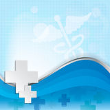 Abstract medical background with caduceus medical symbol. Royalty Free Stock Photography