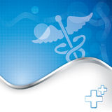 Abstract medical background with caduceus medical symbol. Royalty Free Stock Photos