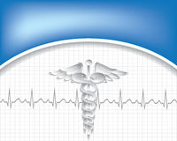 Abstract medical background with caduceus medical symbol. Stock Photography