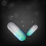 Abstract medical background with capsules Stock Photography