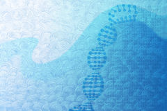 Abstract medical background with DNA concept and genetic code on Royalty Free Stock Photography