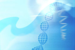 Abstract medical background with DNA helix concept, genetic code Stock Photos