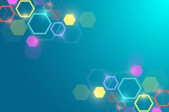 Abstract medical background. DNA research. Hexagonal structure molecule and communication background for medicine. Science, technology. Vector illustration Royalty Free Stock Photography