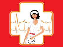 Abstract medical background with nurse Stock Photography
