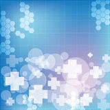 Abstract medical blue light colors background Stock Photos