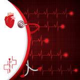 Abstract medical cardiology ekg Royalty Free Stock Images