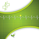 Abstract medical cardiology ekg Royalty Free Stock Photos