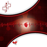 Abstract medical cardiology ekg Stock Images