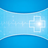 Abstract medical cardiology ekg Stock Image