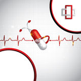 Abstract medical cardiology ekg background Royalty Free Stock Photos