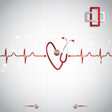 Abstract medical cardiology ekg background Stock Image