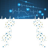 Abstract medical cardiology ekg background Royalty Free Stock Image