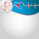 Abstract medical cardiology ekg background Royalty Free Stock Photo