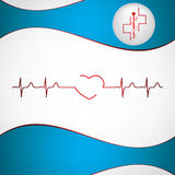 Abstract medical cardiology ekg Stock Photography