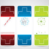 Abstract medical colorful banners Royalty Free Stock Image