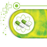Abstract medical green pill background Stock Images