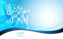 Abstract medical health care icon movement innovation concept background Royalty Free Stock Images
