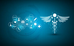 Abstract medical health care innovation concept background. Eps 10 vector Stock Photo