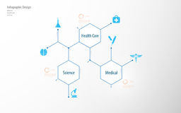 Abstract medical health care science infographic template tech communication innovation concept design background. Eps 10 vector Stock Image