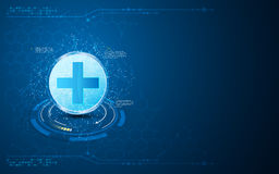 Abstract medical health care technology innovation concept polygon design background Stock Photography
