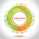 Abstract medical laboratory emblem - circle element Stock Images