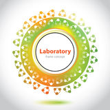 Abstract medical laboratory emblem - circle element Stock Image