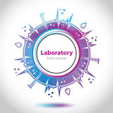 Abstract medical laboratory emblem - circle element Stock Photography
