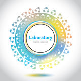 Abstract medical laboratory emblem - circle element Royalty Free Stock Image