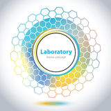 Abstract medical laboratory emblem - circle element Royalty Free Stock Images