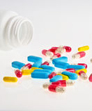 Abstract medical pills and tablets background Stock Photos