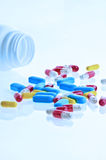 Abstract medical pills and tablets background Royalty Free Stock Photography