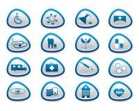 Abstract medical web icons Royalty Free Stock Photos