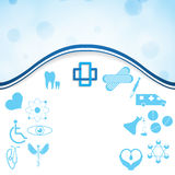 Abstract medical web silver icons set Royalty Free Stock Photo