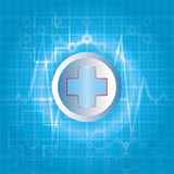 Abstract medicine background. Abstract medicine with blue background Stock Image