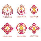 Meditation Logos Stock Photo