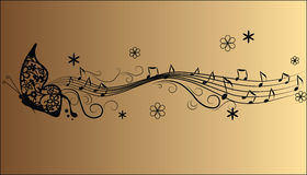 Abstract melody music notes Stock Images