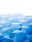 Abstract melted ice cubes blue Stock Photo