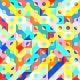 Fun Fashion Geometric Pop Art 1980 Style Pattern Royalty Free Stock Photos