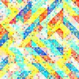 Fun Fashion Geometric Pop Art 1980 Style Pattern Royalty Free Stock Image