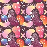 Abstract Memphis Style Seamless Pattern met Geometrisch vector illustratie